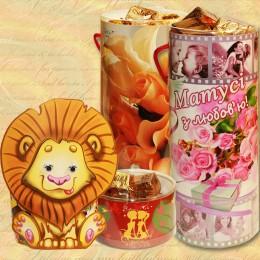 Подарочные тубусы с конфетами (60)