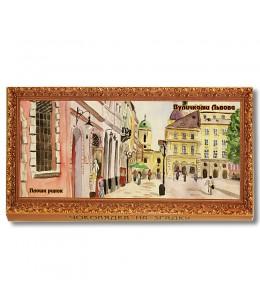Шоколад на память  «Львов, пл. Рынок, Доминиканский собор»