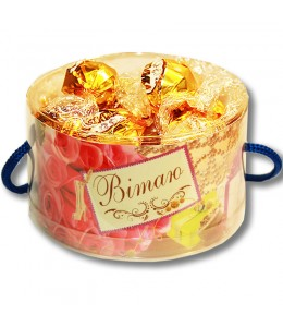 "Тубус  ""Поздравляю!"" с конфетами"