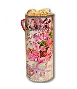 """Тубус  """"Маме с любовью!"""" с конфетами"""