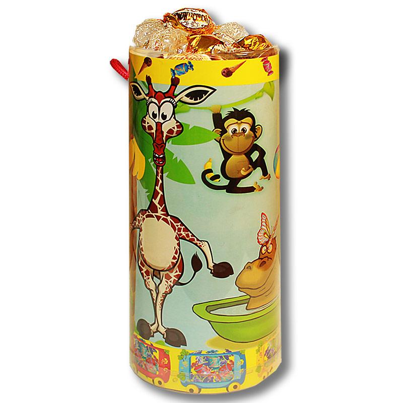 """Тубус  """"Детский"""" с конфетами"""