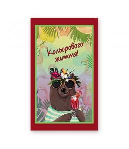 """Шоколад с пожеланиями """"Кольорового життя!"""""""
