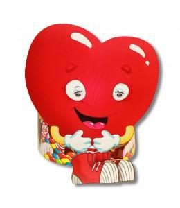 """Тубус """"Сердце"""" с конфетами"""