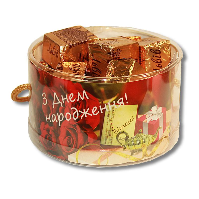 """Тубус  """"С Днем рождения!"""" с конфетами"""